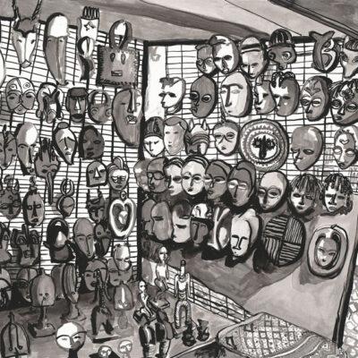 Green Market Sq Masks