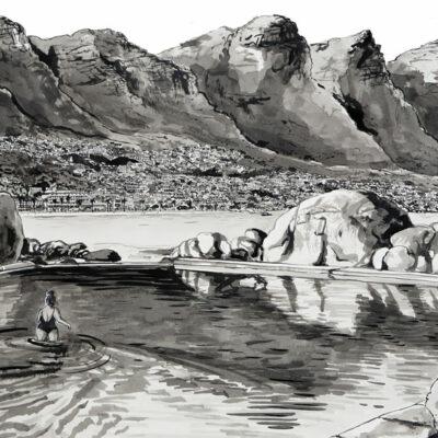 Early Swim, Maidens Cove